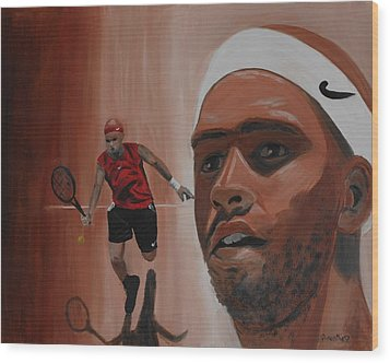 Wood Print featuring the painting James Blake by Quwatha Valentine