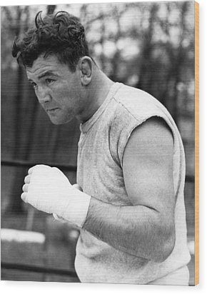 James Braddock In Training For Upcoming Wood Print by Everett