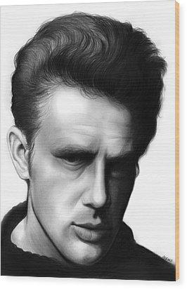 James Dean Wood Print by Greg Joens