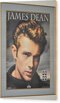 James Dean Hollywood Legend Wood Print