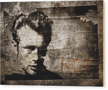 James Dean Hot Wood Print