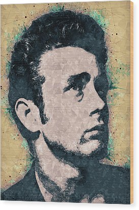 James Dean Portrait Wood Print