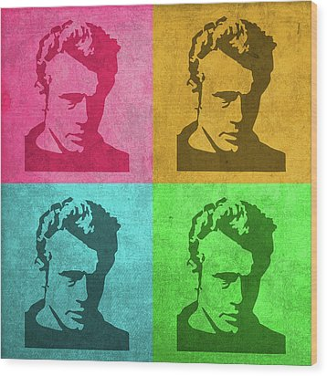 James Dean Vintage Pop Art Wood Print