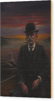 James E. Bayles Sunset Years Wood Print