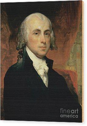 James Madison Wood Print by American School