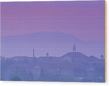 James Madison University At Dusk Wood Print by Kenneth Garrett