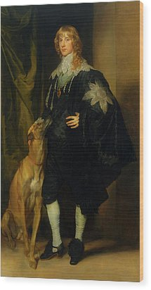 Wood Print featuring the painting James Stuart - Duke Of Richmond And Lennox                       by Anthony Van Dyck