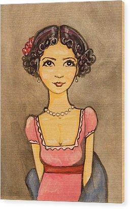 Jane Austen Wood Print by Ramey Guerra