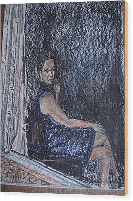 Janela Wood Print by Ana Picolini