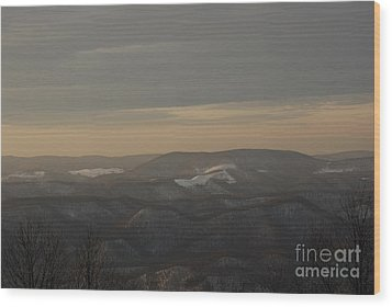 January Evening Wood Print by Randy Bodkins