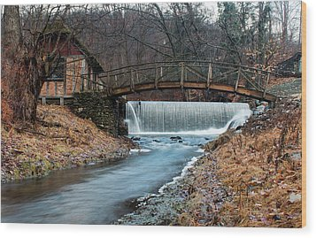 January Morning At Gomez Mill #1 Wood Print by Jeff Severson