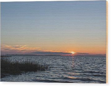 January Sunset Wood Print by Gregg Southard