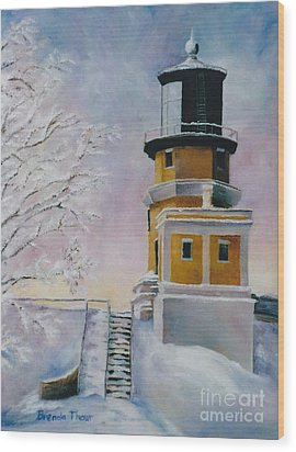 Wood Print featuring the painting Januarys Light by Brenda Thour