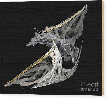 Japanese Aikido Warriors Wood Print by Ed Churchill