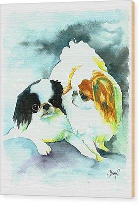 Japanese Chin Dog Wood Print