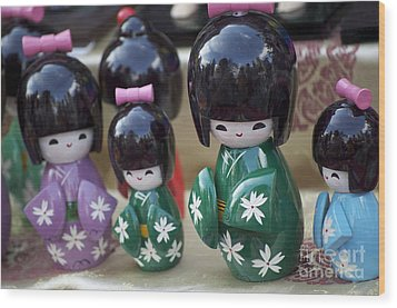 Japanese Dolls Wood Print