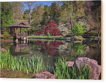 Wood Print featuring the photograph Japanese Garden At Maymont by Rick Berk