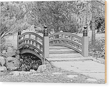 Wood Print featuring the photograph Japanese Garden by Rodney Campbell