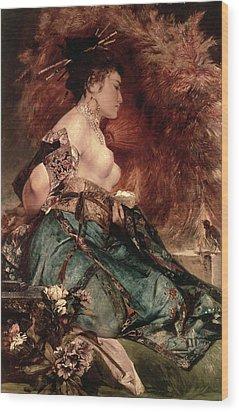 Japanese Girl Wood Print by Hans Makart