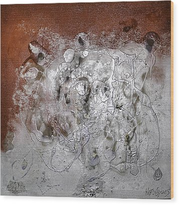 Wood Print featuring the painting Japanese Impressions#2 by Karo Evans
