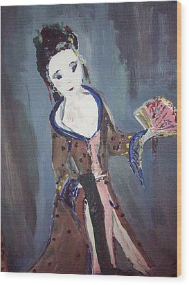 Japanese Lady Wood Print by Judith Desrosiers