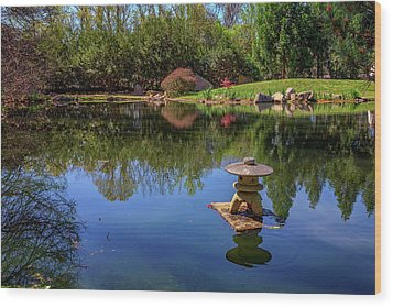 Wood Print featuring the photograph Japanese Reflections At Maymont by Rick Berk