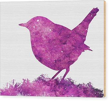 Japanese Robin Bird Wood Print