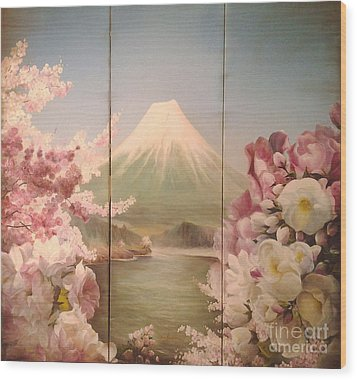 Japanese Spring Wood Print by Sorin Apostolescu