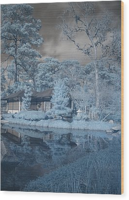 Wood Print featuring the photograph Japanese Tea Garden Infrared Right by Joshua House