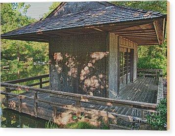 Japanese Teahouse Wood Print by Tamyra Ayles