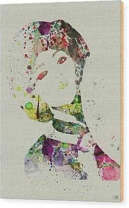 Japanese Woman Wood Print by Naxart Studio