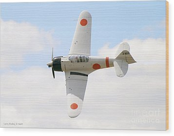 Wood Print featuring the photograph Japanese Zero by Larry Keahey