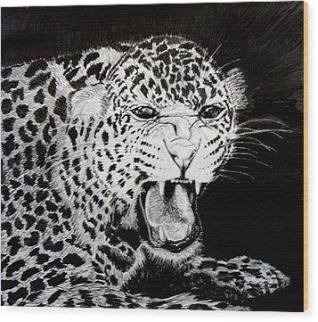 Jaquar II Wood Print