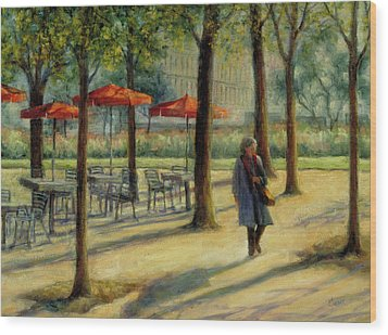 Jardin Des Tuileries In October Wood Print