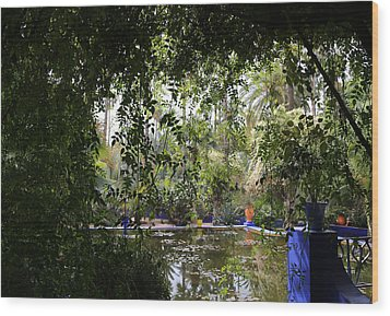 Wood Print featuring the photograph Jardin Majorelle 2 by Andrew Fare