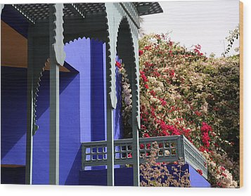 Wood Print featuring the photograph Jardin Majorelle 3 by Andrew Fare
