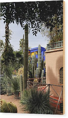 Wood Print featuring the photograph Jardin Majorelle 4 by Andrew Fare