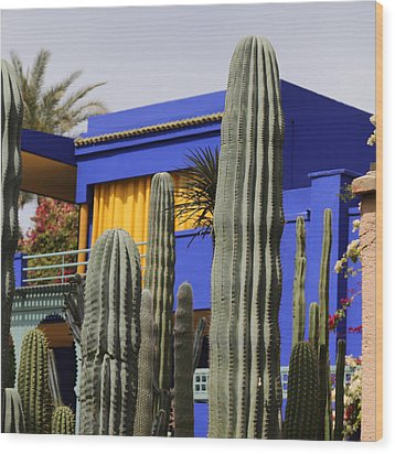 Wood Print featuring the photograph Jardin Majorelle 5 by Andrew Fare