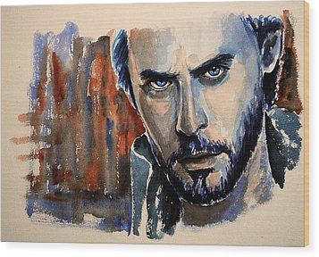 Jared Leto Wood Print by Francoise Dugourd-Caput