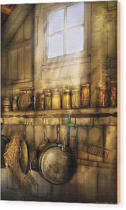 Jars - Winter Preserves  Wood Print by Mike Savad
