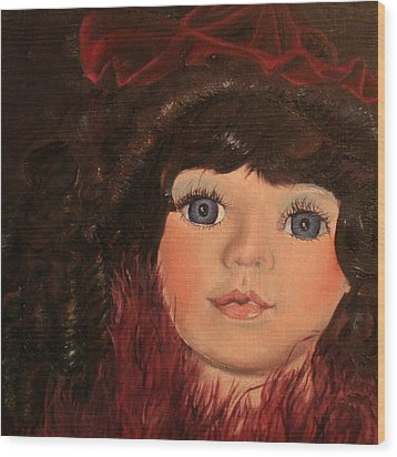 Wood Print featuring the painting Jasmin by Jane Autry
