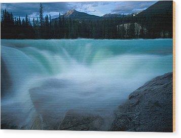 Jasper - Athabasca Falls 2 Wood Print