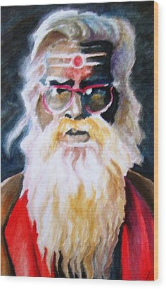 Jay Ganesh Baba Wood Print by Claudio  Fiori