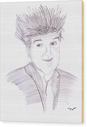 Jay Leno Hair Day Wood Print by M Valeriano