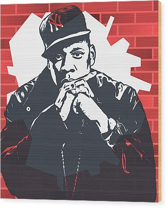 Jay Z Graffiti Tribute Wood Print by Dan Sproul