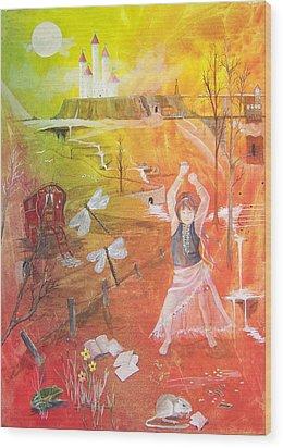 Jayzen - The Little Gypsy Dancer Wood Print by Jackie Mueller-Jones