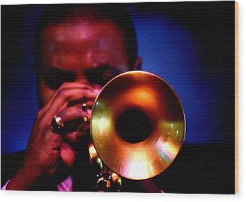 Jazz 11 Wood Print by David Gilbert