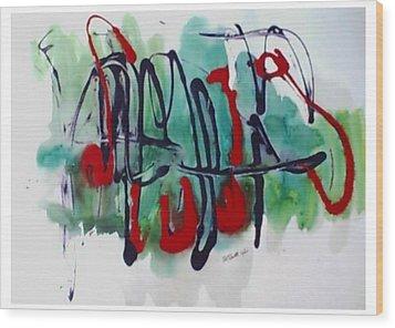 Jazz 2nd Series Painting 5 Wood Print by B L Qualls