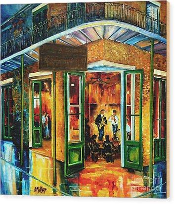Jazz At The Maison Bourbon Wood Print by Diane Millsap