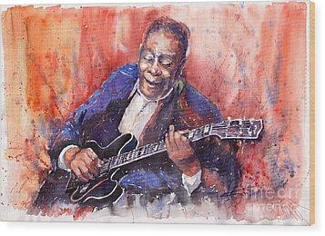 Jazz B B King 06 A Wood Print by Yuriy  Shevchuk